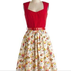 Bernie Dexter Sundae print dress, Size medium.